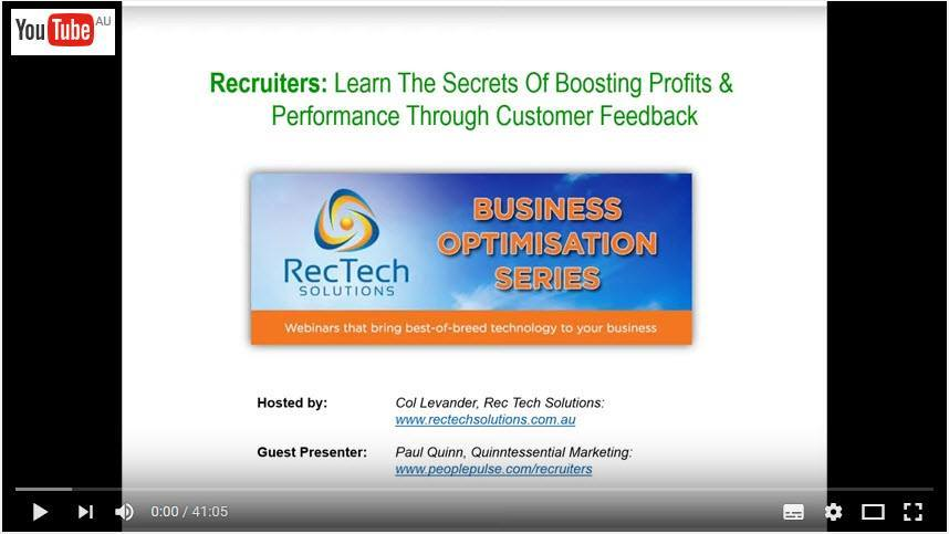 Recruiter Webinar - Profits Through Feedback